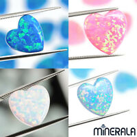 [WHOLESALE] SYNTHETIC LAB CREATED OPAL HEART BEADS FULL DRILL VARIOUS SIZES