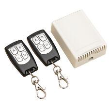 DC 12V 4-Kanal-200M Wireless Funk-Fernbedienung Schalter 2 Sender + Empfaenge S2
