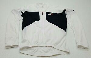 Louis Garneau Ventila Jersey 2 Short Sleeve White Black Cycling Size Large