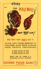 GUARD YOUR GUN AGAINST THE MAU MAU KENYA BRITISH ARMY AFRICA NEW A4 PRINT