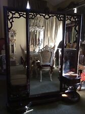 Antique/Vintage Extra Large Full Length French Dressing Mirror Floor Standing