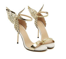 fashion Womens Sandal Shoes Butterfly Wings High Heel Party Wedding Ankle Strap