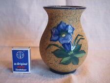AMPHORA Turn-Teplitz Vase Art Deco ~ 1930 Blumenmotiv in Emaillemalerei