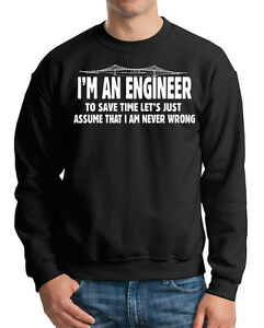 Gift For Engineer Sweatshirt Funny Profession Occupation Sweater