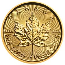 2019 $5 Gold Canadian Maple Leaf .9999 1/10 oz Brilliant Uncirculated