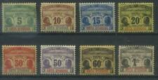 French Colonies, Cote d'Ivoire, Ivory Coast 1906 Michel 1-8 MH*