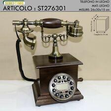Telefono fisso vintage legno telephone stile antico colore noce st276301