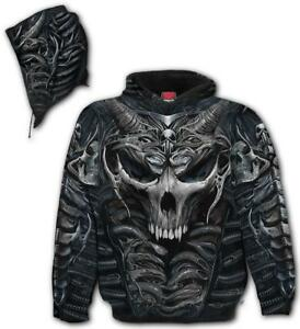 Spiral Direct SKULL ARMOUR Hooded,Skeleton/Skulls/Biker/Dark Wear/Pullover/Hood