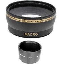 52mm 0.43x  Wide Angle Lens for Panasonic Lumix DMC-FZ8 DMC-FZ7 DMC-FZ5