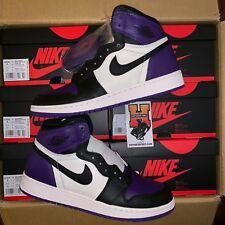 2018 Nike Air Jordan Retro 1 High OG GS Court Purple 575441-501 Size: 4y-7y