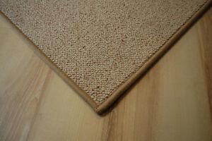Schurwolle Teppich umkettelt beige 180 x 200 cm 100% Wolle gekettelt