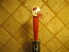 NCAA Wisconsin Badgers Tap Handle Wood Football Beer Keg Red Kegerator