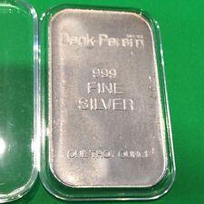 Deak-Perera #43198 Rare Collectible Bar 1 Troy Oz .999 Fine Silver Ingot Medal