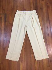 Vintage Smokey Joe'S Men Yellow Polyester Golf Pants Slacks Retro Disco 37 x 29L