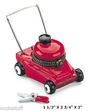LAWNMOWER in RED-Porcelain Hinged-Box-MIDWEST OF CANNON FALLS-WELL DESIGNED