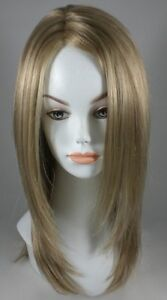 Long Shoulder Length Straight Wig w/ Partial Monofilament top parting