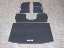 Tapis de Voiture en Noir pour Peugeot 205 + Cti Logos en Argent + Coffre Selle &