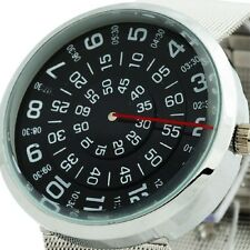 Unique Stainless Steel Rotate Dial Design Men's Sport Watch Vintage Times Case 6