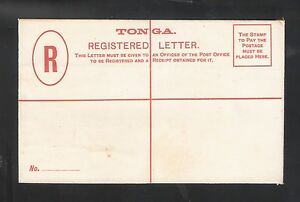 Tonga: Postal Stationery, mint, 4 Pence. Cross Red for Registration. TG42/