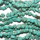 """NG2319L2 Blue-Green Teal Turquoise 7mm - 11mm Magnesite Gemstone Nugget Bead 16"""""""