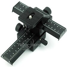 4 Way Macro Focusing Rail Slider for Canon Nikon Sony Pentax OLYMPUS Camera NEW
