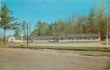 South Paris Maine~Railroad Tracks by Goodwin's Motel~Ice Cream Bar~1961 Postcard