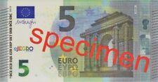 5 - 500 Euro Polymer Testnote Specimen