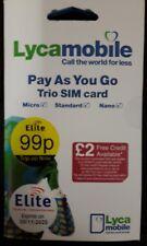 NEW Lycamobile Pay As You Go Trio Sim Card