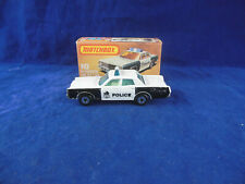 Scarce Matchbox Superfast MB 59 Mercury Police Car in Black & White