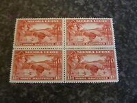 SIERRA LEONE POSTAGE STAMPS SG190 1 1/2D SCARLET BLOCK OF 4 UN MOUNTED MINT