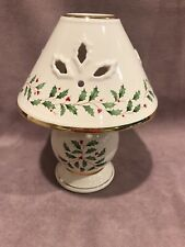 Lenox Holiday Tea Light Lamp Holiday Collection China Holly Berries New to Tags