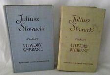 Juliusz Stowacki Utwory Wybrane Songs Poems Poetry 1959 Poland Polish Vol 1 & 2