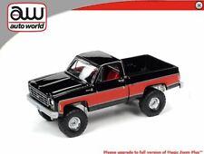 AUTO WORLD GLOSS BLACK / RED 1978 CHEVY K10 SILVERADO TRUCK  - *PRESALE*