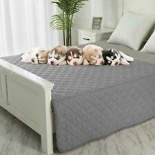"""Dog Blankets for Couch Protection Waterproof Dog Bed 52""""x82"""" Grey+dark Grey"""