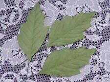 25 Mulberry Paper OAK Leaves 65mm MPL31G Scrapbooking Paper Crafts Cards Art