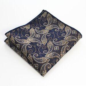 Men's Satin Silk Pocket Square Hankie Handkerchief Wedding Party Formal suit