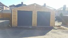 30ftx20ft (9x6m) Log Lap Timber - Garden Building, Office, Workshop, Garage,