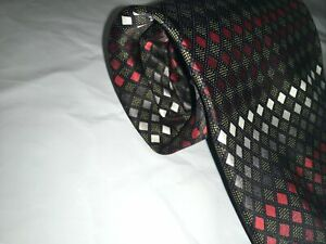 Haggar Mens Multi Color Neck Tie, 58-60 Inches Length, Used🔥FREE SHIP🔥
