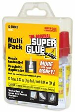 Super Glue 12 Pack Tubes Metal Plastic Aluminum Wood Pottery Craft 15187 New