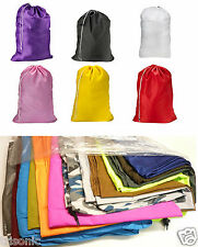 "TWO Heavy Duty Jumbo Sized laundry Bag 30"" X 40"" Washable W/ Cord Assorted Color"