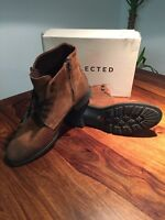 Selected Homme By Jack & Jones Sel Rich Herren Stiefel Wildleder Braun Gr.45 NEU