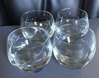 "Etched Tulip Flower Crystal Elegant Glass 3.7""Brandy Whisky Stemless Man Cave"