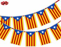 Catalan Full Flag Rectangular Bunting Banner 12 flag National by Party Decor