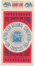 1964 Ticket from the Republican National Convention San Francisco Pre Tour