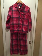 Women's Sleepwear Pj Set Gilligan & O'Malley Flannel Red Multicolor Small