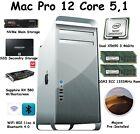 Mac Pro 12 Core 3.46GHz 128GB 1333mhz 256GB NVME 1 TB SSD RX580 W/ Boot-Screen