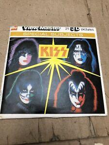 Vintage KISS GAF View-master Set complete 3 Reels Gene Paul Ace Peter NM
