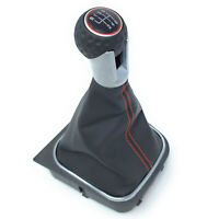 6 Speed Gear Shift Knob Gaiter Boot For VW Golf 5 MK5 Ⅴ GTI GTD R32 2004 - 2009