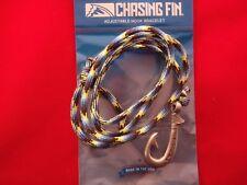 """CHASIN FIN""   FISH HOOK BRACELET- ""REEF""  550 PARACORD /PEWTER HOOK"