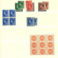 Lot:36634  GB EDWARD VIII  1936 Definitive selection  QV SG197 block of 9 mounte